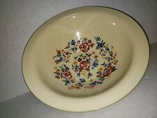 Longaberger Spring Flowers Large Serving Bowl Pottery Brand New no box Heavy