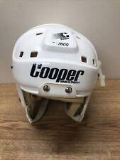 Vtg COOPER SK2000 Large HOCKEY HELMET WHITE SK 2000