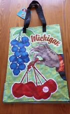 Trader Joe's MICHIGAN REUSABLE BAG ECO Grocery Shopping  Blueberries Cherries🌺