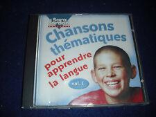 Chansons Thématiques pour apprendre la langue, Vol. 1 by Sara Jordan CD French