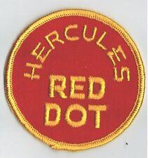 Vintage Hercules Red Dot Embroidered Patch Advertising Shooting Shot Gun Powder