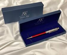Fashion SWAROVSKI Element Crystal Pens with Anna Wu Collection Gift Case RED