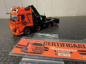 WSI REMMERS TRANSPORT VOLVO FH3 GLOBETROTTER & PALFINGER 1:50 LIMITED EDITION
