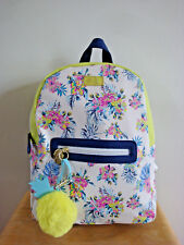 LUV BETSEY JOHNSON Lime Green/Blue Floral Backpack NWT!!! MSRP$88
