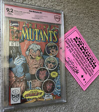 NEW MUTANTS 87 CBCS 9.2 (VERIFIED LIEFELD SIG) 1ST APP CABLE w/COA NEVER PRESSED