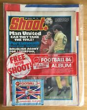 Panini Football 84 Album And Sticker Packet Free With Shoot! Magazine