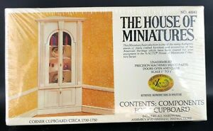 The House of Miniatures Corner Cupboard 40041 Dollhouse Furniture Kit RARE Wood
