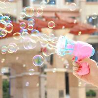 Plastic Automatic Bubble Machine Fans Gun Blower Maker Kids Playing Child Toys