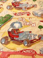 Hot Wheels Mattel Red Baron Quilt Blanket Vintage Retro Fabric Handmade Decor