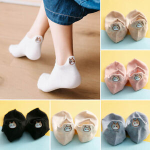 Vintage Cat Embroidered Women Cotton Socks Fashion Ankle Funny Socks 1pair fe