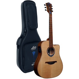 Lag THV10DCE Tramontane Hyvibe 10 Smart Guitar with Deluxe Padded Gig Bag