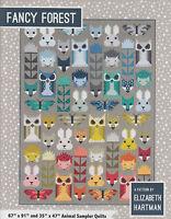Fancy Forest - pieced quilt PATTERN in 2 sizes - Elizabeth Hartman