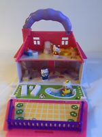 Hello Kitty Sanrio Carry Along Foldout Travel Playset & Characters + Accessories