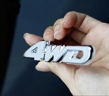 Chrome Metal 4WD New Car Auto V6 Rear Trunk Lid Emblems Badge Decal Sticker