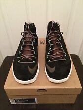 Nike Lebron X EXT QS Black Suede Mint 607078 001 Sz 12