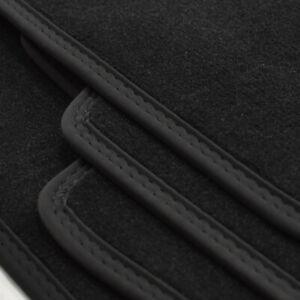 Velour Fußmatten Doppelnaht passend für BMW 5er F10 + F11 ab Bj.2013 - 2017 sw