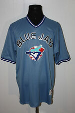 Majestic Toronto Blue Jays Pullover Blue Jersey #10 Pat Borders Vernon Wells 54