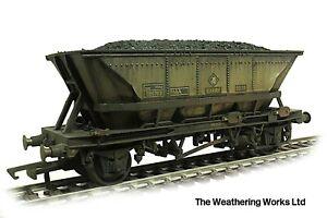 Hornby HAA HBA MGR Merry-Go-Round Coal Hopper wagon *PRO WEATHERED LOOK*
