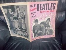THE BEATLES 2nd SHEET MUSIC BOOK 1964 , SONGS, NOTES, PHOTOS LYRICS & FACTS ACE