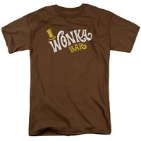 Willy Wonka & Chocolate Factory WONKA CANDY BAR LOGO Licensed T-Shirt All Sizes