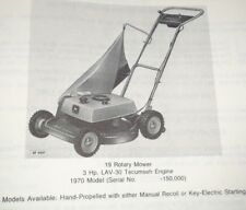 John Deere 19 Rotary Push Lawn Mower Parts Catalog Manual Original! (1970 Model)
