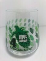 SUPER RARE Tupps Brewery 4th Year Anniversary IPA Beer Glass Hops Nugs Texas
