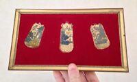 Cadre contenant des plaquettes peinture perse Os Bovin