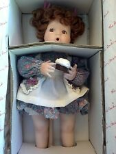 "Danbury Mint Betsy Girl Doll Elaine Campbell 13"" Porcelain w Stand & Cupcake Box"