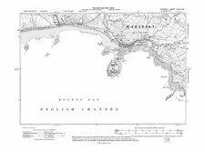 Old map Marazion, St Michael's Mount 1909 - Cornwall, repro 74-NE