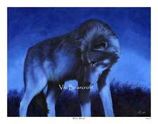 'Blue Moon'. Limited Edition Wolf Print, Wolves.