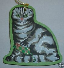 Cat's Meow Village Felines Of Xmas Scottish Fold Cat