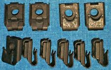 "✖10 NOS AUVECO OLD U-NUTS 1940s 40s FENDER, MOLDING TRIM NUT 1/4""-28 Fine THREAD"