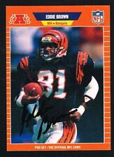 Eddie Brown #56 signed autograph auto 1989 Pro Set Football Trading Card