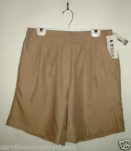 K.T. GOLF SHORTS By Keneth Too~Colors Vary~Pockets~Petite Sizes Vary~NWT