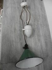 Hanging Ceiling Light machine age Enamelled Hängelampe Deckenlampe antique china
