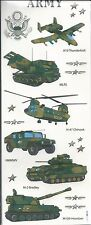 ARMY VEHICLES and Phrases Scrapbook Stickers
