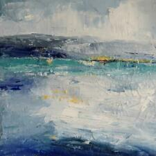 Abstract Seascape, Texture, Impasto, Palette Knife, Acrylic, Michele Helders