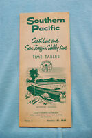 Southern Pacific Time Table - Coast Line and San Joaquin Valley Line, 10/27/57