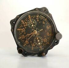 Vintage WW2 Civil Date Jaeger LeCoultre 8-Day Aircraft Clock Dash Clock WWII