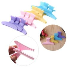 12Pcs Colorful Plastic Hair Clips Butterfly Claw Hairdressing Salon Styling Tool