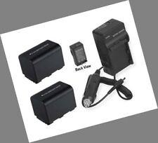 2 Batteries +Charger for Sony DCR-HC5 DCR-HC7 DCR-HC8 DCR-HC37 DCR-HC38 DCR-HC41
