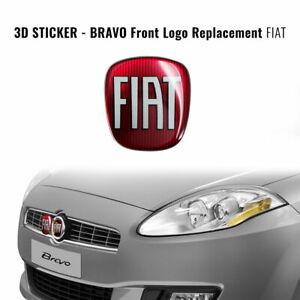 Adesivo Fiat 3D Ricambio Logo per Bravo Anteriore