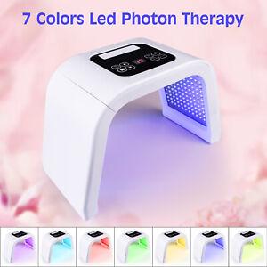 LED Photon Treatment Skin Facial Face Mask Skin Care Light Acne Remover 7 Colour