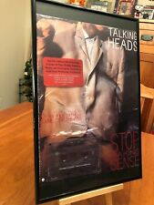 3 Big 11X17 Framed Talking Heads 77, Sense, Fear Of Music Lp Album Cd Promo Ads