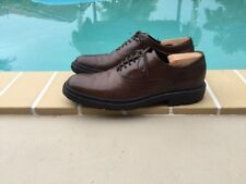 TOD'S BROWN LEATHER LACES CASUAL SLIP RESISTANT SHOES Sz 10M MADE IN ITALY