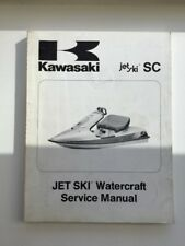 JET-SKI Watercraft Manual KAWASAKI SC, English, 99924-1149-01