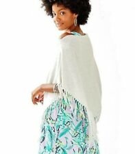 New Lilly Pulitzer *Summer Weight* LANI WRAP Cotton CoolMax Heathered Grey NWT