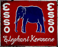 Esso Elephant Car  - VINTAGE ADVERTISING ENAMEL METAL TIN SIGN WALL PLAQUE