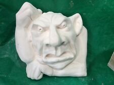 LATEX AND FIBREGLASS MOULD WALL HANGING GARGOYLE FACE 25CM TALL ORNAMENT MOULD