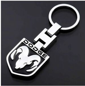 DODGE Logo Keychain RAM Head Trucks Double Sided 3D Key Ring Gift Box